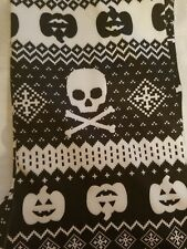 Girls Juniors Ankle Length Leggings Pumpkins and Skulls Size 1 Extra Small