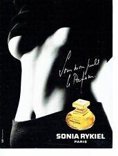 """Publicité Advertising  0817 1994  Sonia Rykiel  """" le parfum"""" femme"""