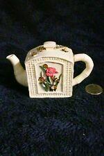 Nini Handpainted Butterflies Miniature Teapot #6-25 w/chain