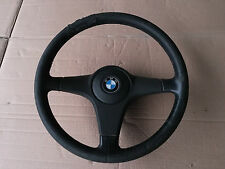 BMW 3 / 5 SERIES E30 E28 E24 3 SPOKE LEATHER STEERING WHEEL RARE SPORT 11528964