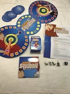 SCENE IT? SquabbleTHE DVD BOARD GAME REPLACEMENT DISC Cards Board Tokens Die Ins