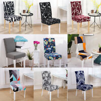 2/4/6 PC Geometric Stretch Spandex Chair Cover Slipcover Seat Dining Home Decor