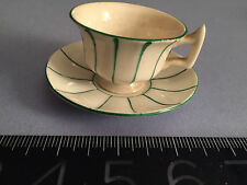ANTIQUE miniature cup and saucer-English or German? 19th century RARE