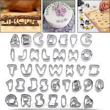 37pcs Alphabet Number Letter Fondant Cake Decorating Set Icing Cutter Mold Mould
