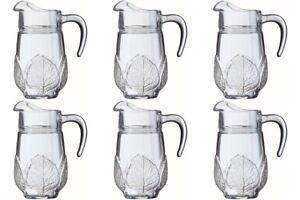 1.3L Set Of 6 Aspen Jug Water Milk Juice Home Restaurant Glass Table Serving