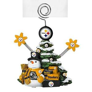 Pittsburgh Steelers Football NFL Team Christmas Tree Photo Holiday Card Holder