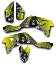 SUZUKI LTR450 R GRAPHICS DECAL KIT GRIM REAPER REVENGE Sticker LTR 450 YELLOW
