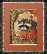 CURIOUS RACCOON~COUNTED CROSS STITCH PATTERN ONLY