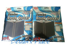 Jumbo Book Cover Oversized Stretchy Set 2 Black and Blue