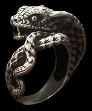 Sterling Silver Serpent Of Temptation Ring - All Sizes - Snake Of Wisdom