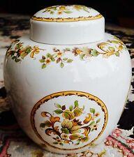 "Vintage Large Royal Doulton ""Cornflower"" English Bone China Ginger Jar/Tea Caddy"