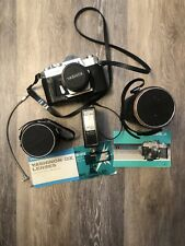 Vintage Yashica Tl Electro X Film Camera w/ Lens & Extra Accessories