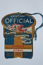 Indy 500 / Indianapolis 500 1941 Race Day Official Pitman Pass Credential