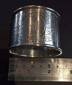 Vintage Australia  sterling silver Napkin ring #16