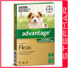 Advantage for Dogs 0-4Kg Small Green 4Pack