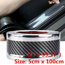 Car Sticker Accessories Carbon Fiber Car Door Plate Cover Anti Scratch Sticker