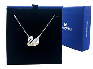 New Authentic Swarovski Sparkle Crystal Iconic Swan Pendant Necklace 5215034