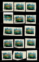 15X New Zealand, VARIOUS STAMPS ON PAPER, WITH INTERESTING PMARK, FU
