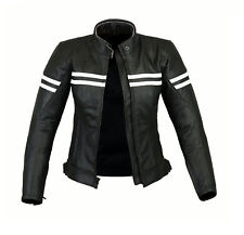 Ladies Motorcycle Waterproof Leather Jacket Women Motorbike Armours Jacket Black