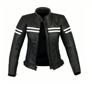 Ladies Motorcycle Waterproof Leather Jacket Women Motorbike Jacket Armored Black