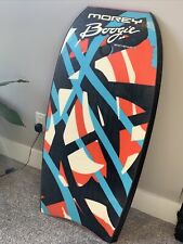 "Vtg Morey Mach 9 (9Tr) Boogie Board 43"" w/Leash ~ Tube Rail ~ Retro Graphics!"