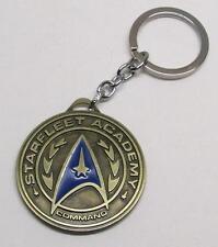 STAR TREK Starfleet Acadamy Bronze Pendant Metal KEY CHAIN Ring Keychain NEW