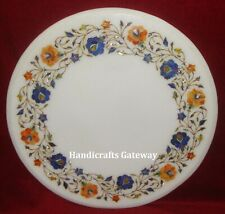 Beautiful Stone Inlay Work Marble Table Tops, Marble Handmade Center Table Top