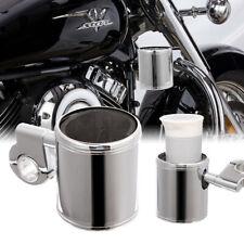Motorcycle Cup Holder Chrome Handlebar Drink Bottle Holder Front Fit For Harley