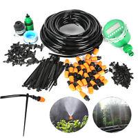 Auto/Manual DIY Watering Irrigation System Sprinkler Drip Timer 25M Garden Hose