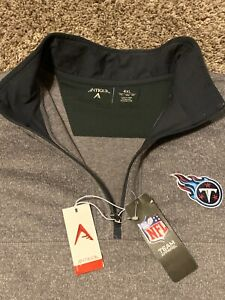 Tennessee Titans Quarter-Zip Pullover Men's Jacket Size 4XL New with Tag NWT