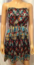 Element Brand Multicolored Strapless Short Dress Size L