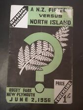 3351 - North Island v New Zealand Rugby Programme 02/06/956 All Blacks