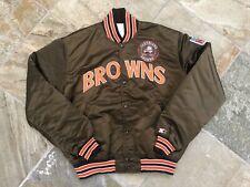 Vintage Cleveland Browns Starter Satin Football Jacket, Size XL