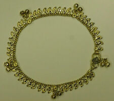 One Metal Gold Coloured Indian Made Anklet with Bells! (AK5)