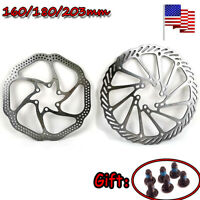 160/180/203mm MTB Bike Disc Brake Rotor Cycling 6 Bolts Disc Brake Rotor Steel