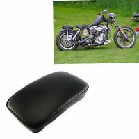 Black Pillion Pad Seat 6 Suction Cup For Harley Dyna Chopper Bobber Motorcycle