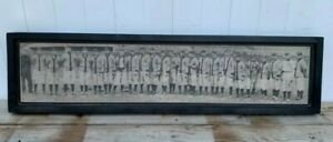 Rustic Style Direct Print to Wood 1909 Det. Tigers Team Panoramic Ty Cobb