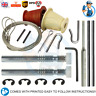 NEW KING Garage Door Cones Cables Wires Roller Spindles Garage Door Repair Kit