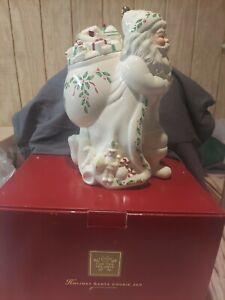 Lenox Santa Holiday Cookie Jar. NEW IN BOX vintage 1999.