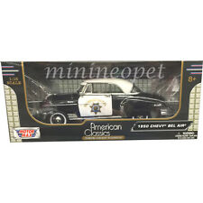 MOTORMAX 79007 1950 CHEVY BEL AIR 1/18 CALIFORNIA HIGHWAY PATROL CHP BLACK WHITE