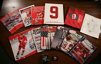 Detroit Red Wings Lot Magazines Programs Pins NHL Hockey Stanley Cup Champions