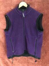 Vtg 80s Polartec Rei Fleece Full Zip Vest Women's Sz Med Windbloc Series For Rei