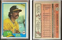 Dave McKay Signed 1981 Topps #461 Card Oakland Athletics Auto Autograph