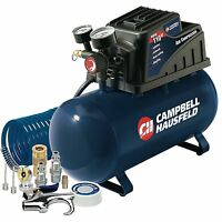 Campbell Hausfeld 3-Gallon Air Compressor with 10 Piece Kit, Horizontal Tank, 3A