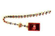 Queen Victoria of the United Kingdom Silver Bookmark Red Rhinestones
