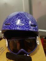 Smith Cosmos Ski Snowboard Helmet with goggles small 48-53cm purple