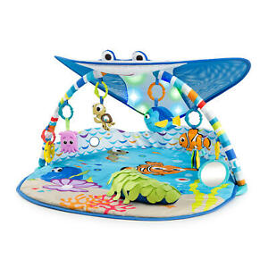Bright Starts  Baby Finding Nemo Mr. Ray Ocean Lights & Music Gym, Ages Newborn