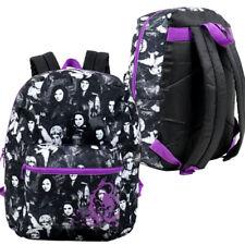 "Disney Descendants 16"" Backpack Bag All-Over Print Black Purple NEW"