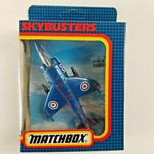 1987 Matchbox Skybusters Harrier Jet Sb-27 Blue Boxed Nos Royal Navy