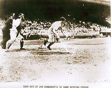 NEW YORK YANKEES  Joe DiMaggio His Last Hit 56 Game Hitting Streak